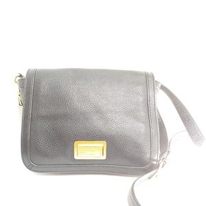 Marc Jacobs black pebbled leather handbag